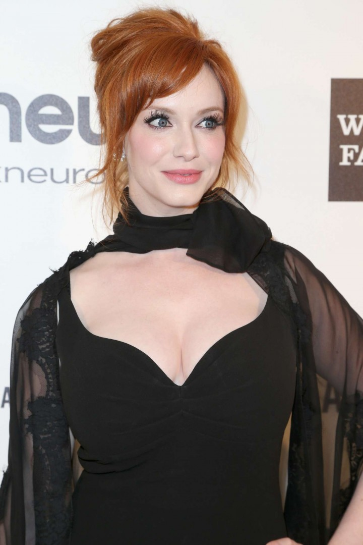 Christina Hendricks: 2013 Elton John AIDS Foundation Academy Awards Party -02