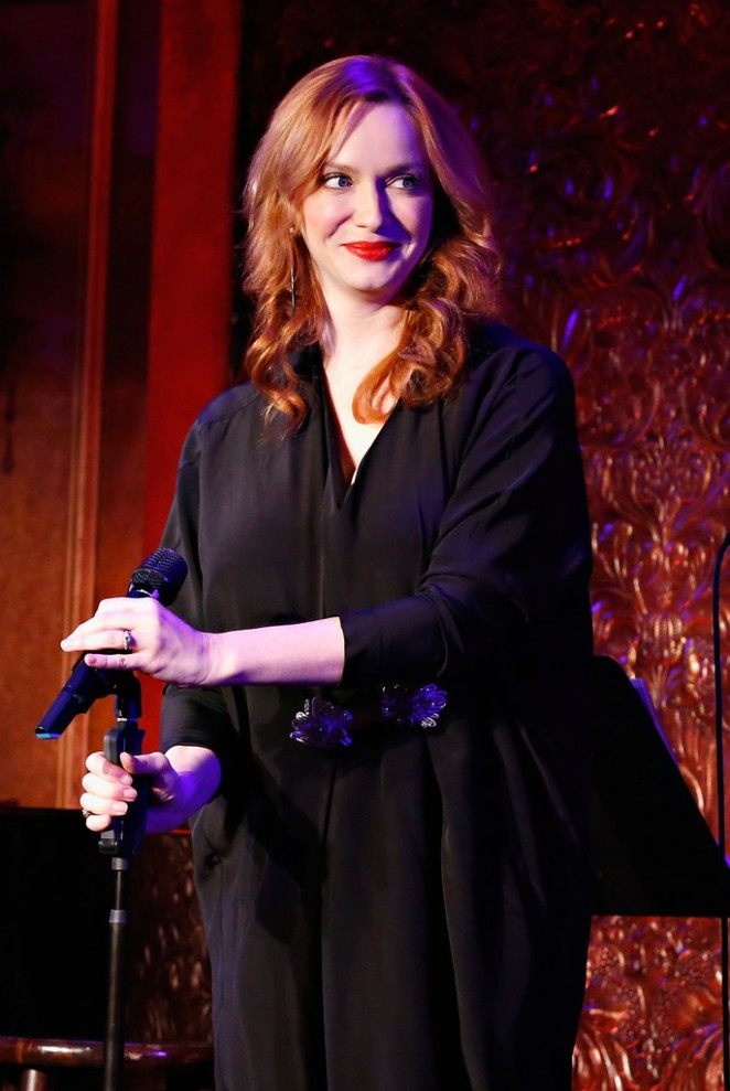 Christina Hendricks - Perfoms on stage during David Burtka's Appearance at 54 Below in NYC