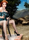 Christina Hendricks - Photoshoot by Matthais Vriens Mcgrath - Animal Prints and Latex
