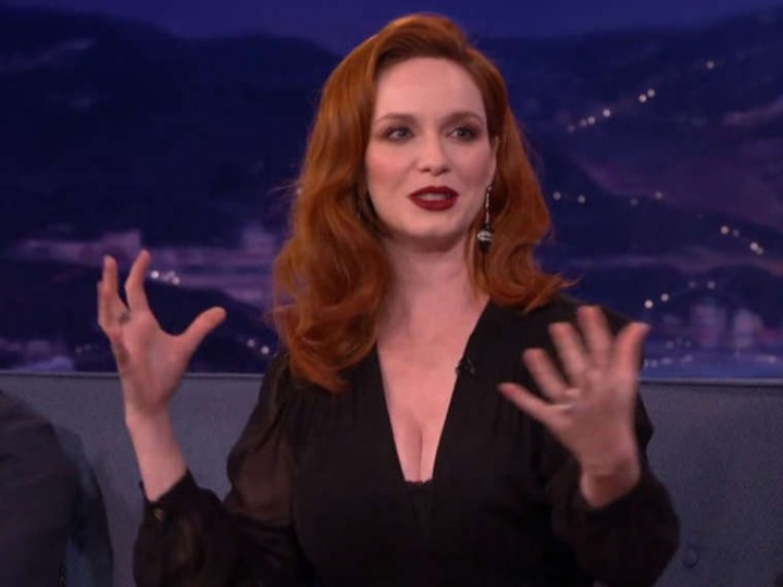 Christina Hendricks on Conan -03