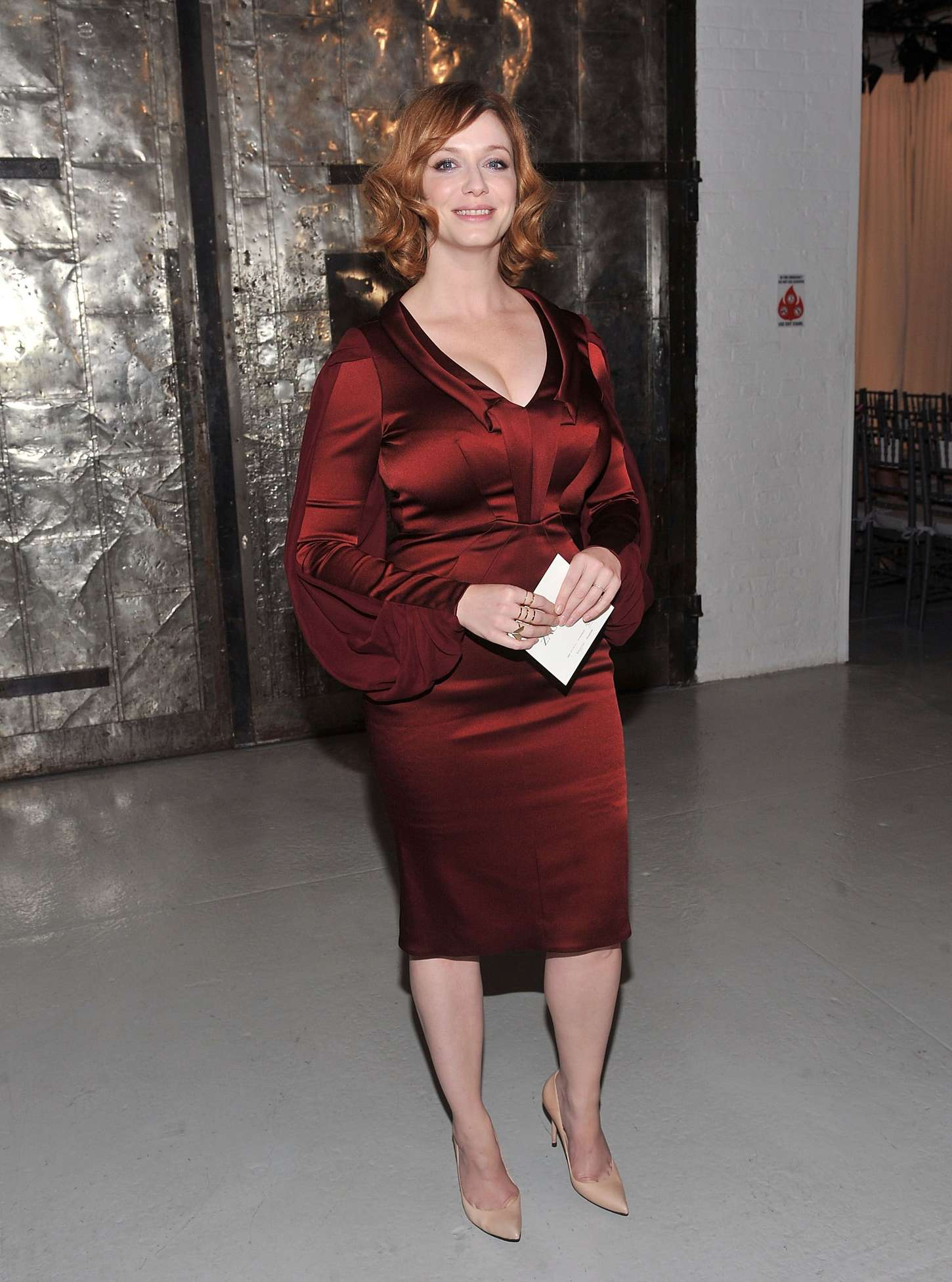 Christina Hendricks Zac Posen 2013 Fashion Show In Ny