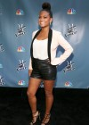 Christina Milian shows her sexy legs in short short at NBC The Voice Press Junket in LA