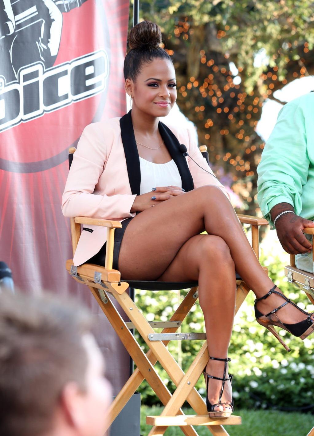 Christina Milian legs ... Alyson Stoner And Demi Lovato