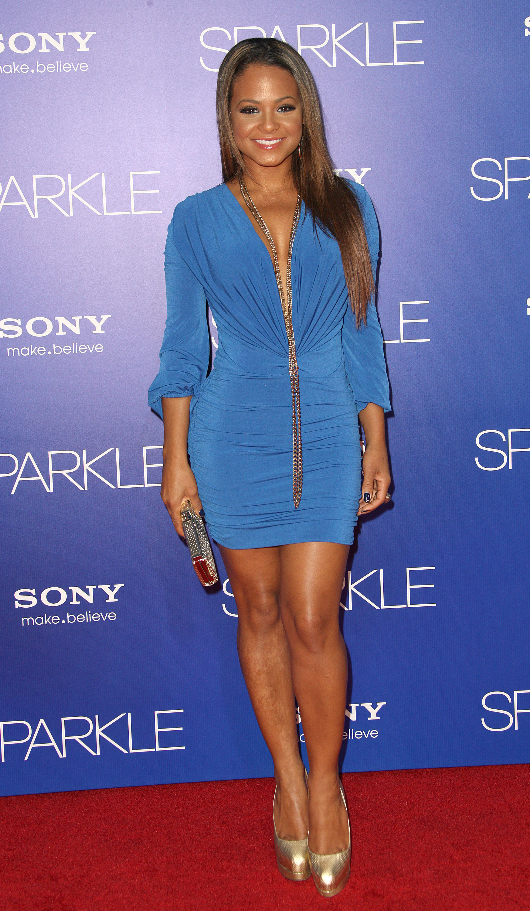 Christina Milian hot in mini dress-04 - GotCeleb