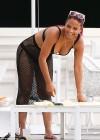 Christina Milian - Bikini at a pool in South Beach -07