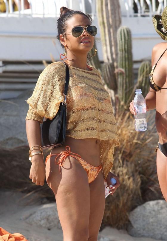 Christina Milian – Bikini Candids in Cabo San Lucas -06