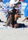 Christina Milian In Black Swimsuit -29