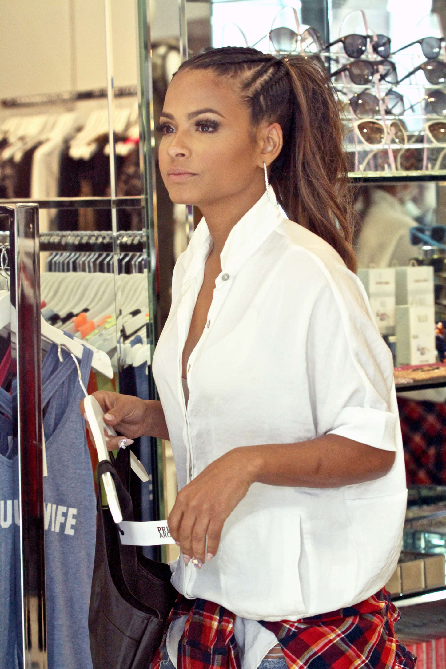 Christina Milian - Kyle Richards Store in Beverly Hills