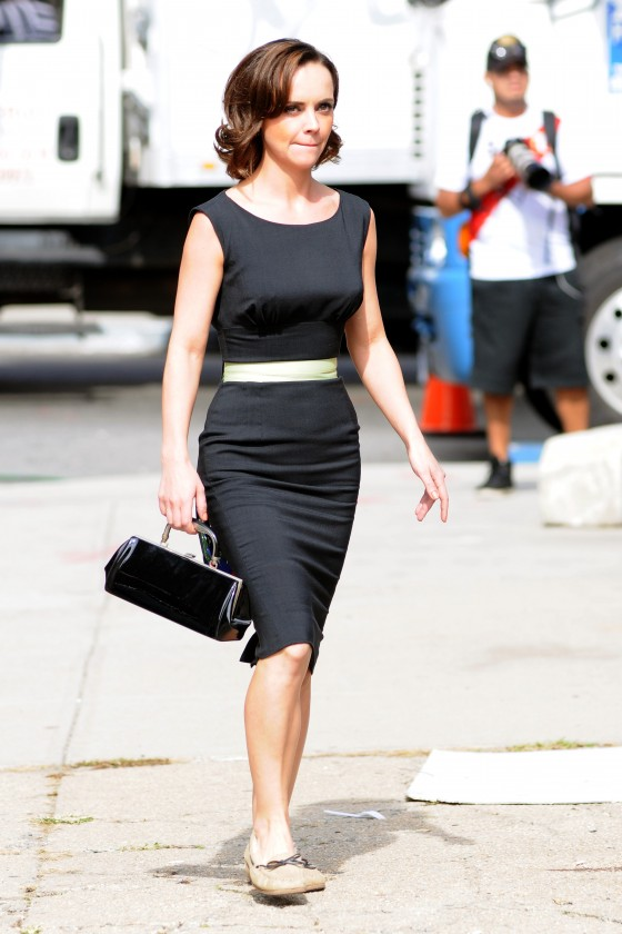 Christina Ricci – Black Dress Candids-09