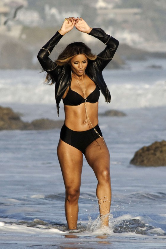Ciara - Bikini For Music Video Shoot - Malibu