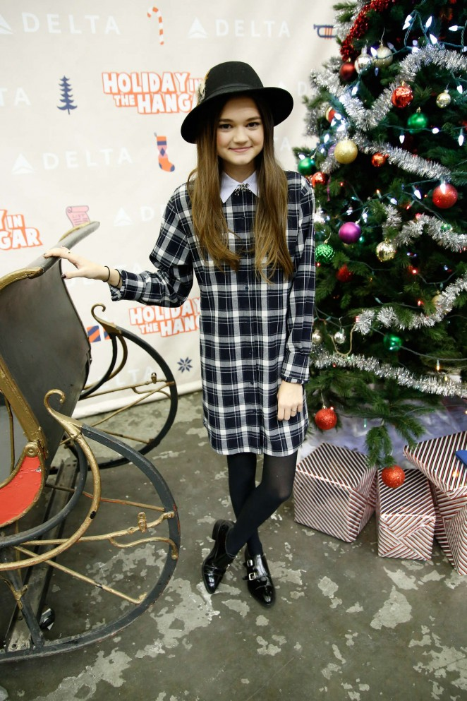 Ciara Bravo - 4th Annual 'Holiday in the Hangar' in NYC
