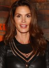 Cindy Crawford In a Leather dress at Caliche Rum launch party