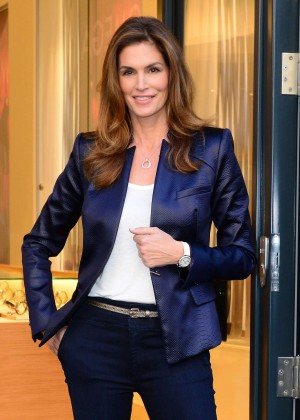 Cindy Crawford - OMEGA Oxford Street Flagship Boutique Opening in London
