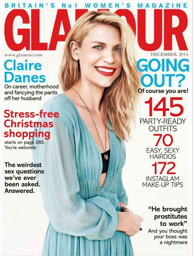 Claire Danes - Glamour UK Magazine (December 2014) adds