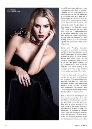 Claire Holt: Bello Magazine -02