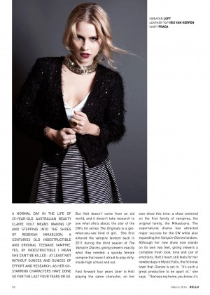 Claire Holt: Bello Magazine -03
