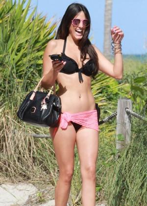 Claudia Roman Bikini Photos: Miami 2014 -01