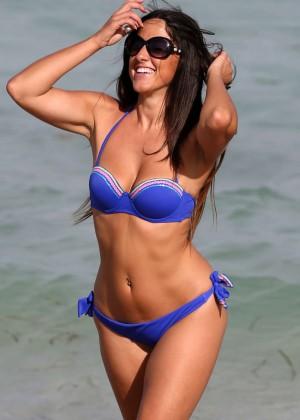 Claudia Romani Hot in Blue Bikini -06