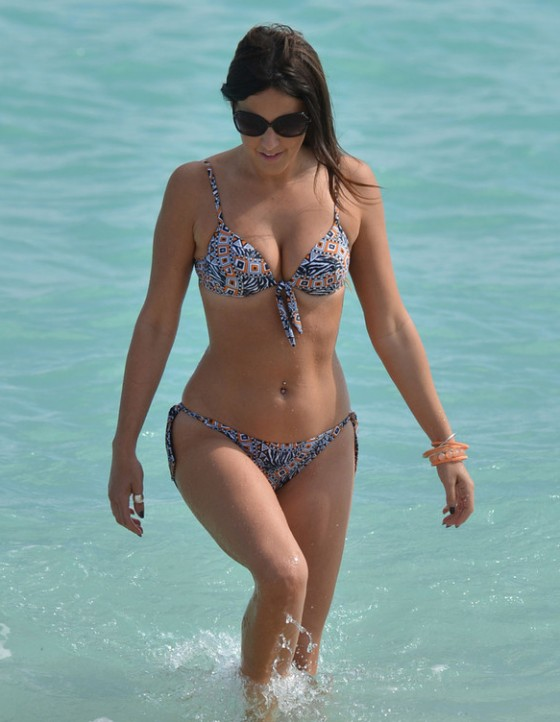 Claudia Romani bikini photos: Miami Beach