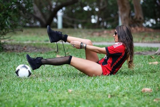 Claudia Romani 2013 : Claudia Romani in thong bikini plays soccer in Miami-03