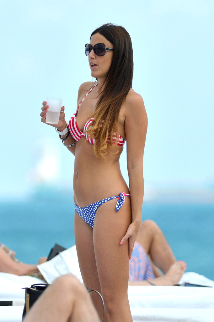 back to post claudia romani new bikini candids on the beach in