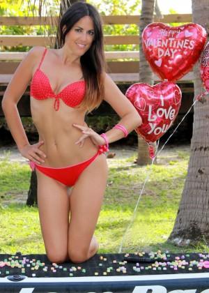 Claudia Romani Bikini Photos: Valentines PhotoShoot -05