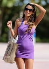 Claudia Romani in mini dress -03