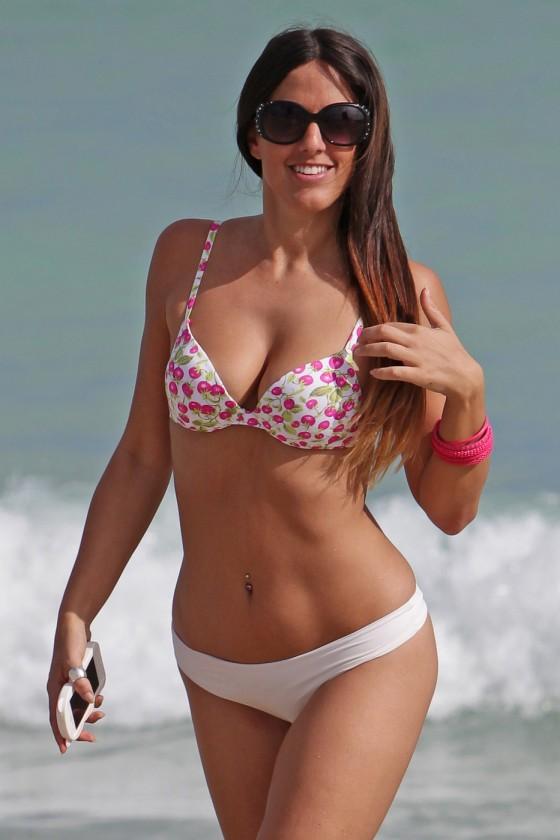 Claudia Romani Wearing Bikini in Miami