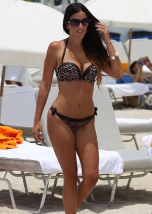 Claudia Romani Bikini Photos: Miami 2014 -03