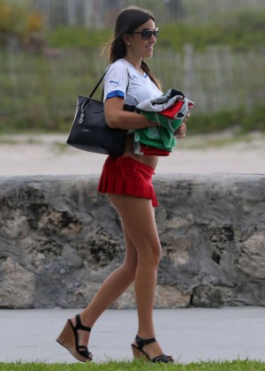 Claudia Romani red mini skirt -14