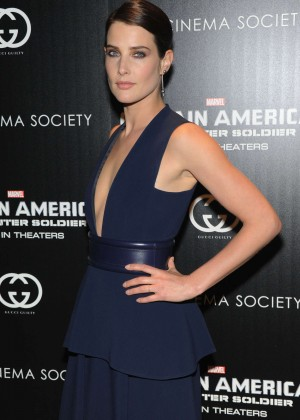 Cobie Smulders: Captain America: The Winter Soldier Premiere -06