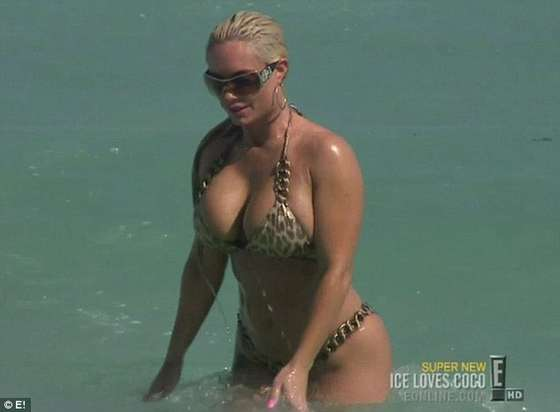 Coco Austin in animal-print bikini in show Ice Loves Coco-03