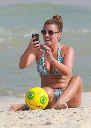 Coleen Rooney Bikini: 2014 in Rio de Janeiro -10