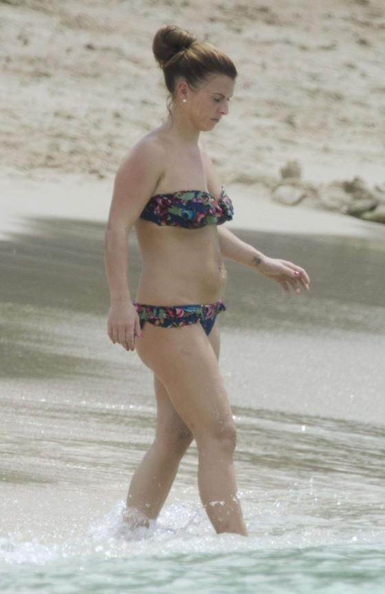 Coleen Rooney Bikini 2013 Pics - Barbados -22
