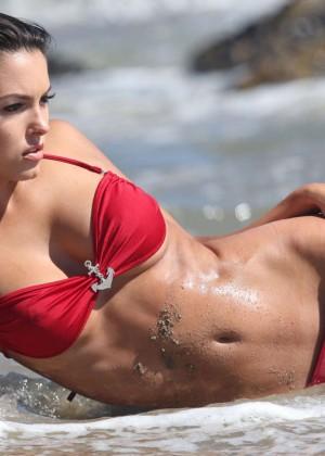 Constance Nunes in Red Bikini -01