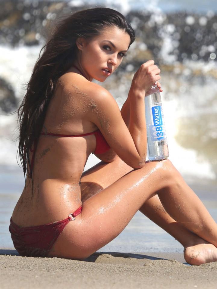 Constance Nunes in Red Bikini -03