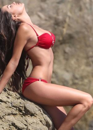 Constance Nunes in Red Bikini -04