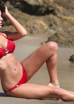 Constance Nunes in Red Bikini -06