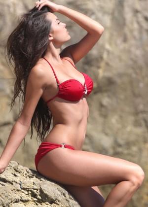 Constance Nunes in Red Bikini -08
