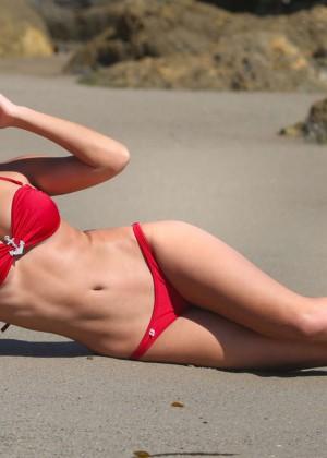 Constance Nunes in Red Bikini -11