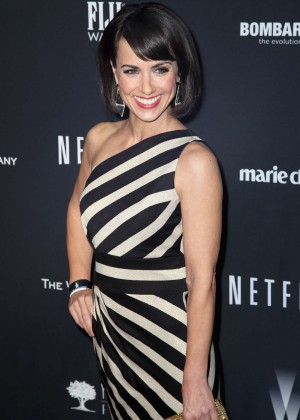 Constance Zimmer: 2014 The Weinstein Company and Netflix GG after party -01