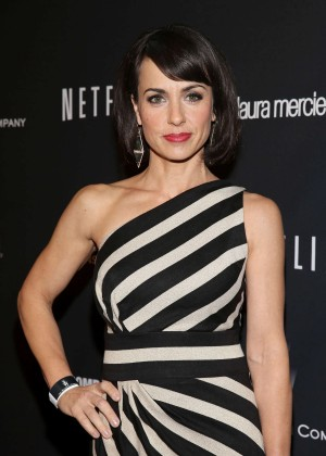 Constance Zimmer: 2014 The Weinstein Company and Netflix GG after party -02