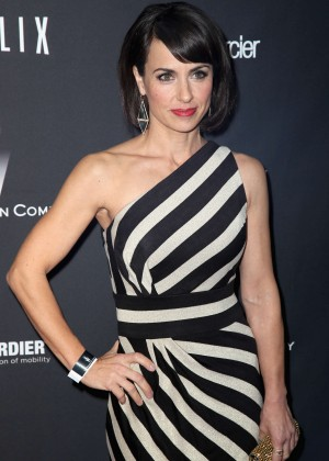 Constance Zimmer: 2014 The Weinstein Company and Netflix GG after party -03