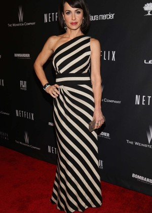 Constance Zimmer: 2014 The Weinstein Company and Netflix GG after party -05