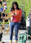 "Courteney Cox on the set of ""Cougar Town"" in Venice"