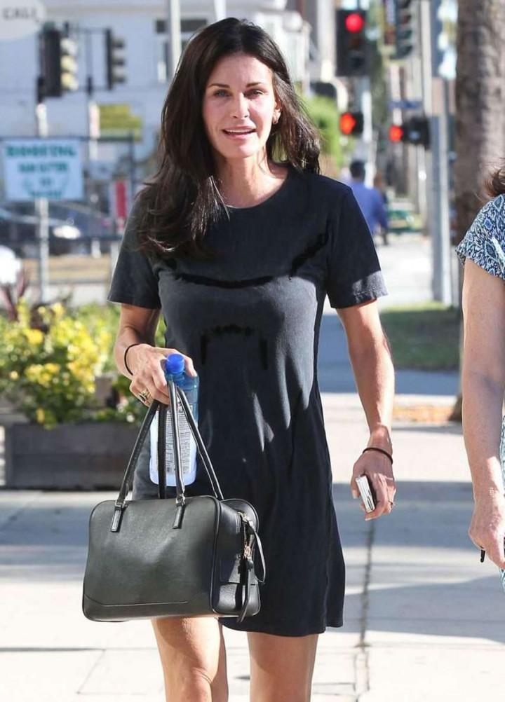 Courteney Cox in Mini Dress out in LA
