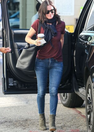 Courtney Cox in Tight Jeans out in Beverly Hills