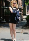 Courtney Love - Out in tight black mini dress -01