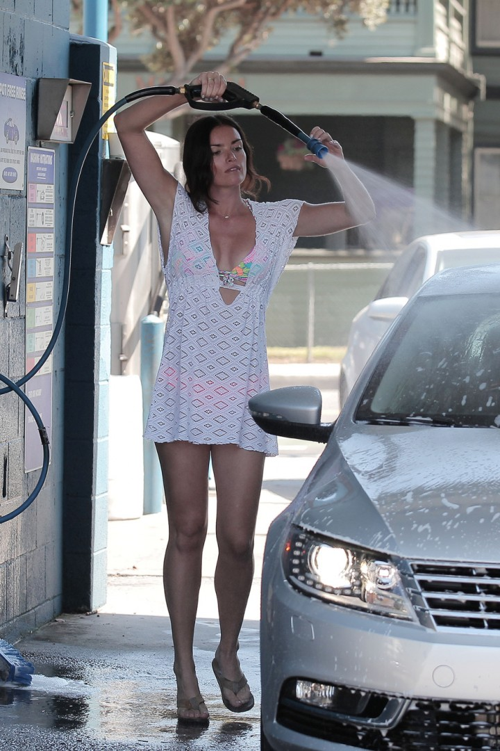 Courtney Robertson in a Bikini Car Wash in Los Angeles