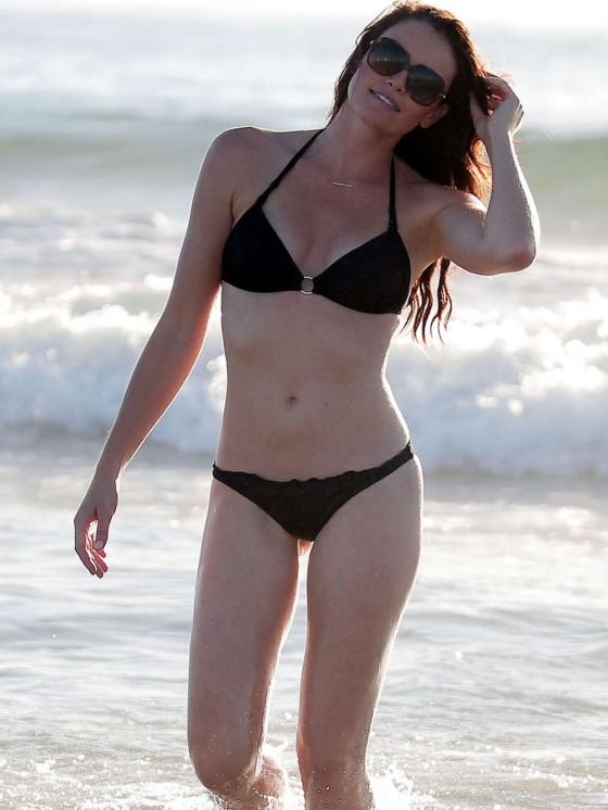 Courtney Robertson – Wearing Black Bikini at the Beach in LA